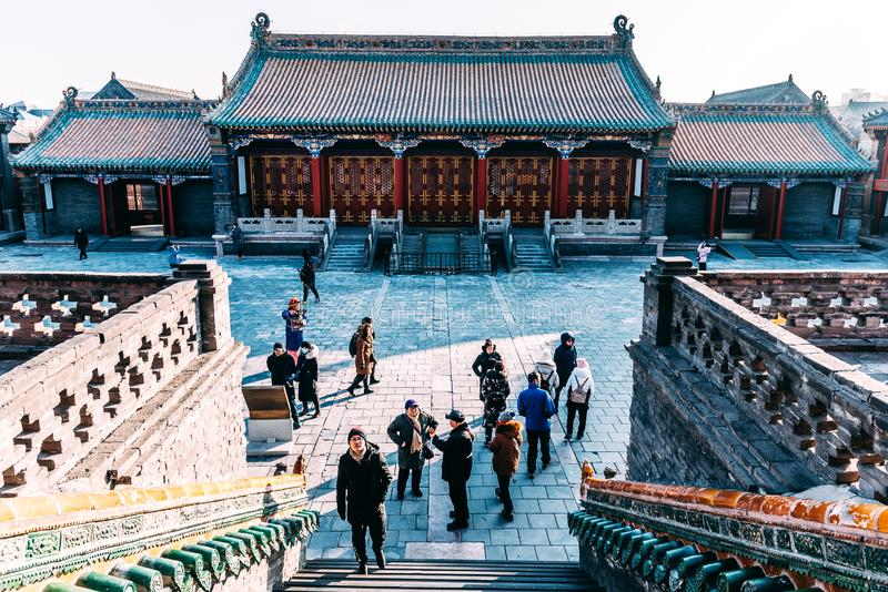 SHENYANG, CHINA JANUARY 1 2019 : Shenyang Imperial Palace Mukden Palace was the former imperial palace of the early Manchu-led. Qing dynasty and UNESCO world stock photography