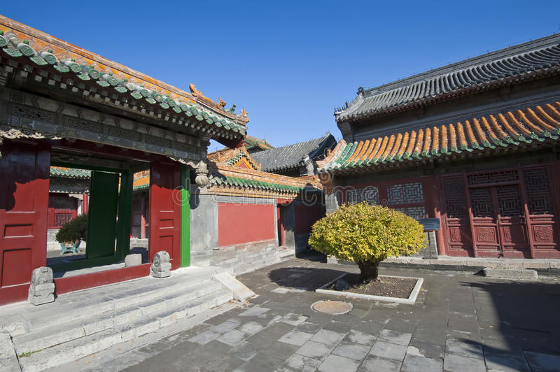 Shenyang Imperial Palace. Architecture of the Shenyang Imperial Palace complex. Forbidden City in Shenyang, Liaoning province, China stock photo