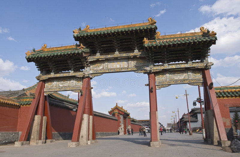 Shenyang Imperial Palace. The Shenyang Imperial Palace, one of the two most intact imperial group-buildings ever existing in China, is located at Shenyang City stock image