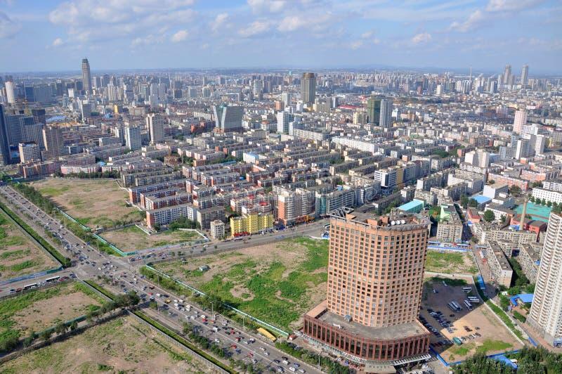 Shenyang Miasta Linia horyzontu, Liaoning, Chiny zdjęcie royalty free