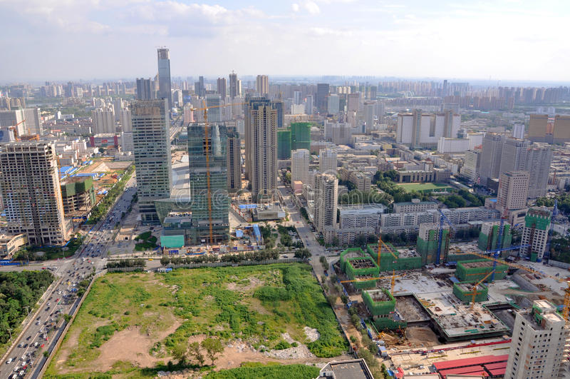 Shenyang Miasta Linia horyzontu, Liaoning, Chiny fotografia stock