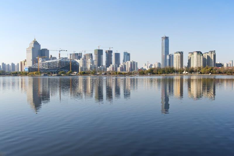 Shenyang stadspanorama royaltyfria bilder