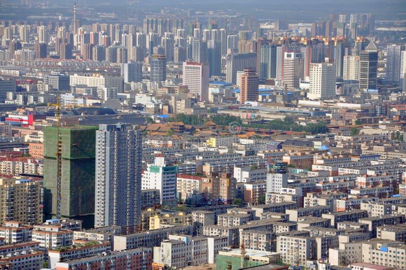 Shenyang-Stadtzentrum, China lizenzfreie stockfotografie