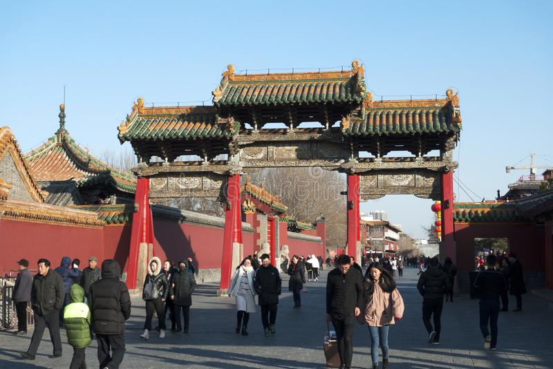 Shenyang välva sig arkivfoto