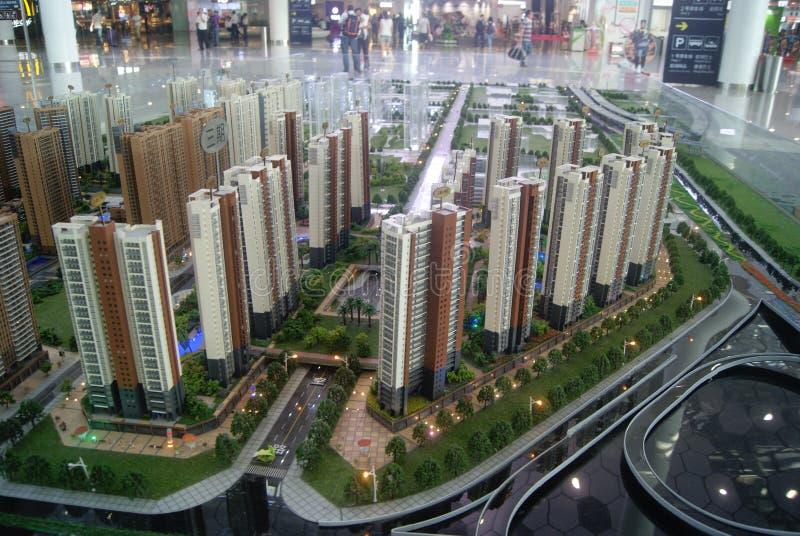 Shenzhen, Κίνα: επιτραπέζιο πρότυπο άμμου πωλήσεων ακίνητων περιουσιών στοκ φωτογραφία με δικαίωμα ελεύθερης χρήσης