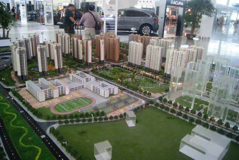 Shenzhen, Κίνα: επιτραπέζιο πρότυπο άμμου πωλήσεων ακίνητων περιουσιών στοκ εικόνες με δικαίωμα ελεύθερης χρήσης