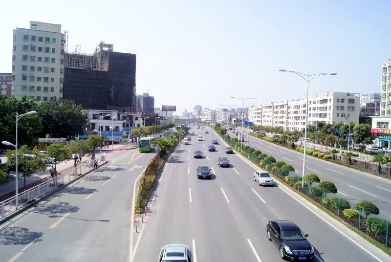Shenzhen Κίνα: baoan λεωφόρος στοκ φωτογραφίες