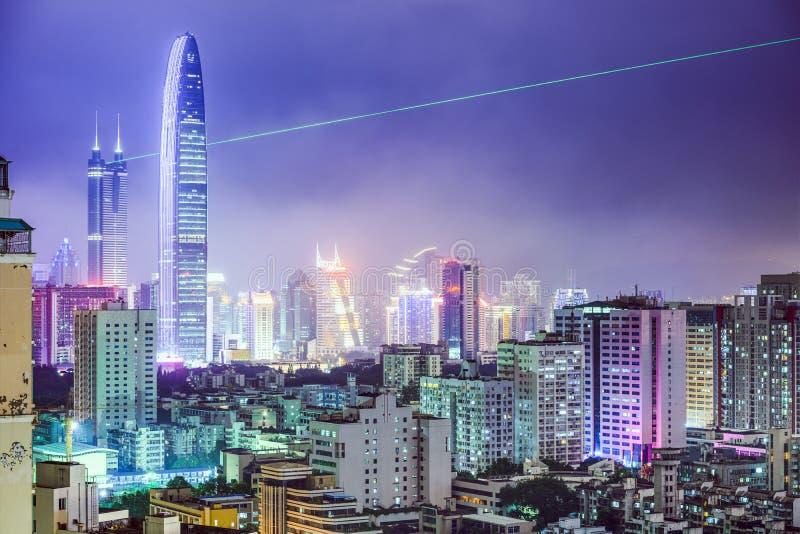 Shenzhen, ορίζοντας πόλεων της Κίνας στοκ φωτογραφίες με δικαίωμα ελεύθερης χρήσης