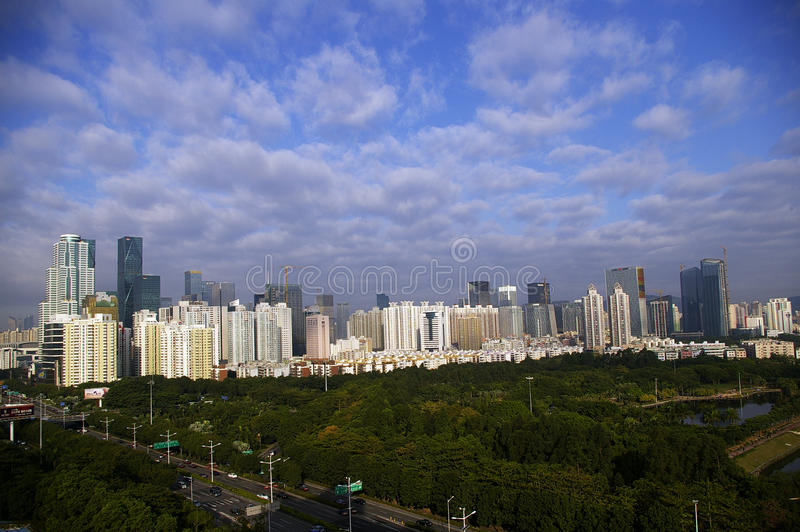 Shenzhen CBD, porcelaine photo stock