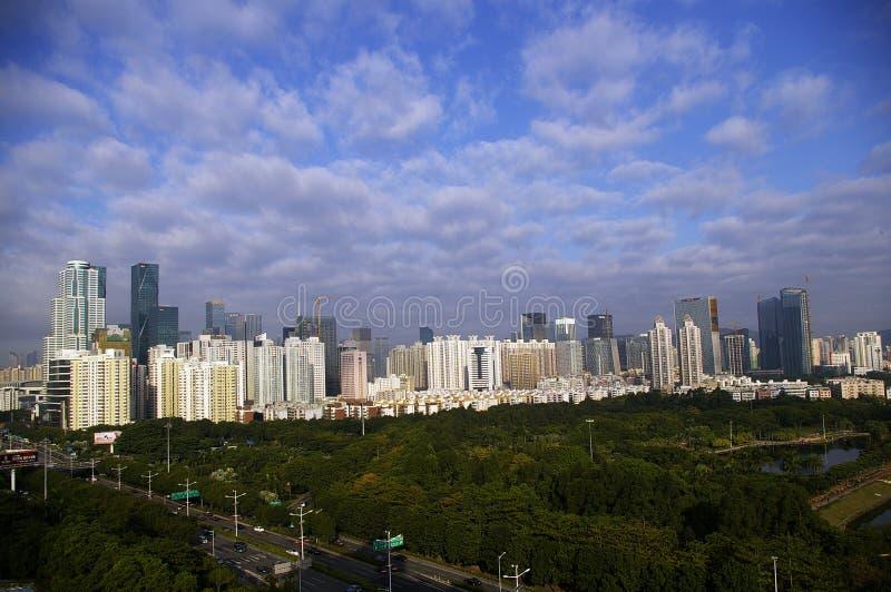 Shenzhen CBD, porslin arkivfoto