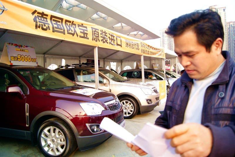 Shenzhen china: 2011 shenzhen west international a. December 17, 2011 shenzhen baoan district stadium, to hold 2011 shenzhen west international automobile royalty free stock photo