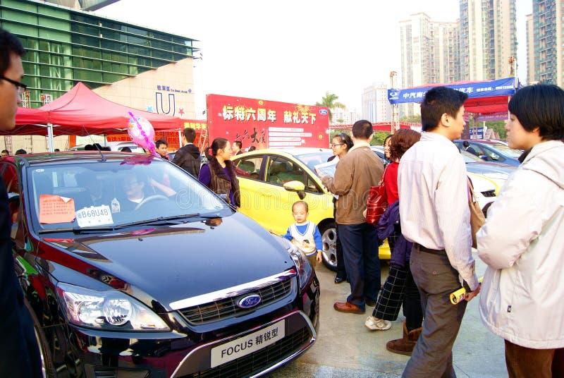 Shenzhen china: 2011 shenzhen west international a. December 17, 2011 shenzhen baoan district stadium, to hold 2011 shenzhen west international automobile stock photography