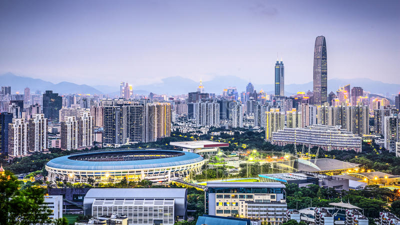Shenzhen, China lizenzfreie stockfotografie