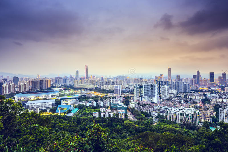 Shenzhen, China lizenzfreies stockfoto