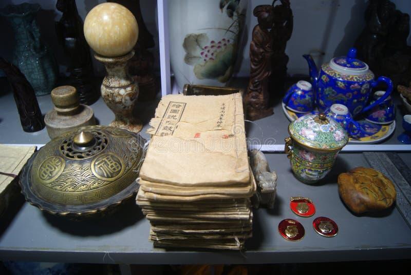 Shenzhen, China: antique shop stock images