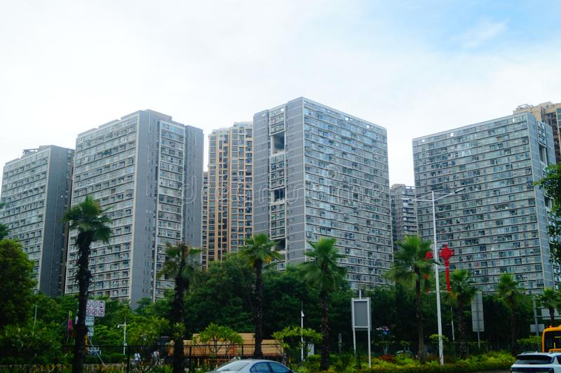Shenzhen, China: architectural appearance of residential buildings royalty free stock photos