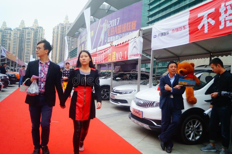Shenzhen, China: Auto cena das vendas da exposição foto de stock royalty free