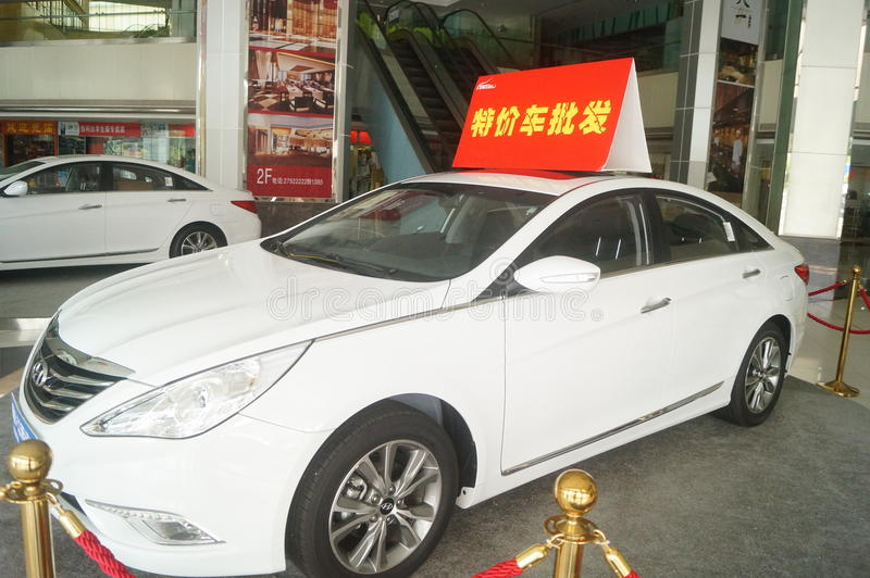 Shenzhen, China: auto sales, special offer wholesale royalty free stock photography