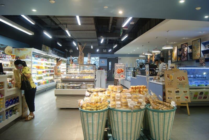 Shenzhen, China: Bakery. Shenzhen Luohu Laojie subway station underground mall, a bakery royalty free stock photo