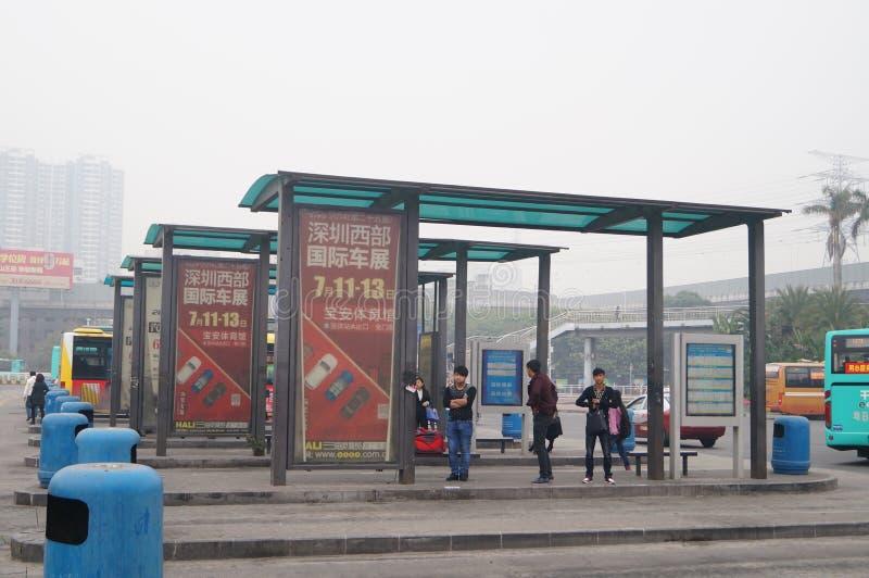 Shenzhen, China: bus station transportation landscape stock photos