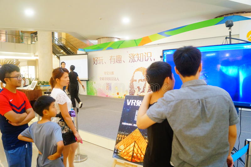 Shenzhen, China: campaña de promoción de la realidad virtual foto de archivo
