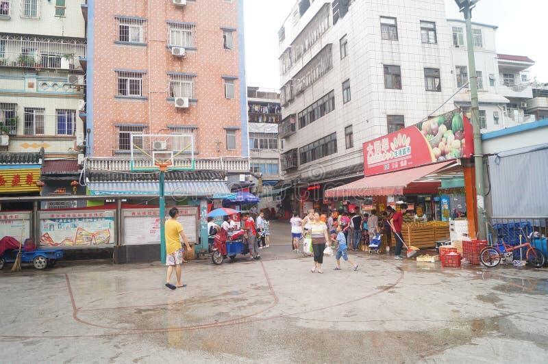 Shenzhen, China: a cidade antiga de Nantou fotografia de stock