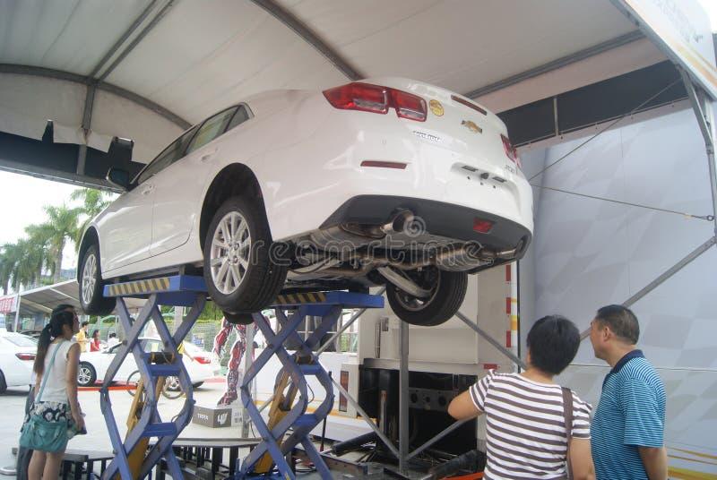 Shenzhen, China: de automobiele activiteiten van de tentoonstellingsverkoop royalty-vrije stock foto's