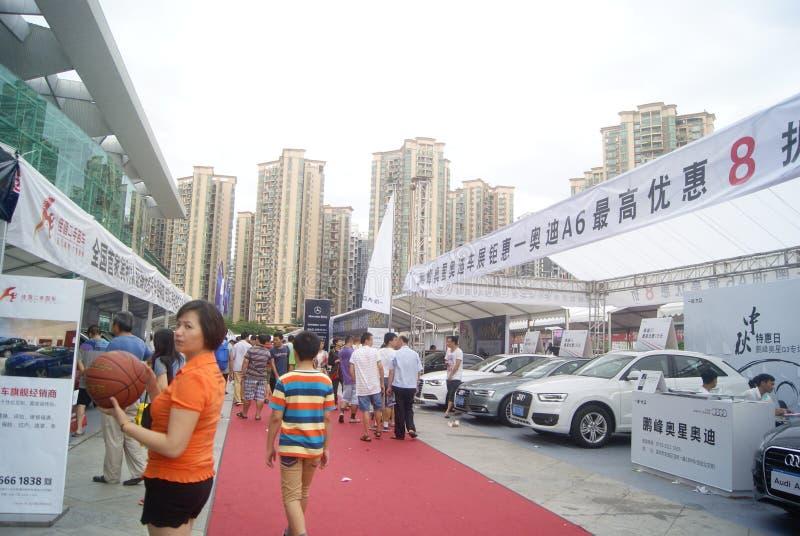 Shenzhen, China: de automobiele activiteiten van de tentoonstellingsverkoop royalty-vrije stock fotografie