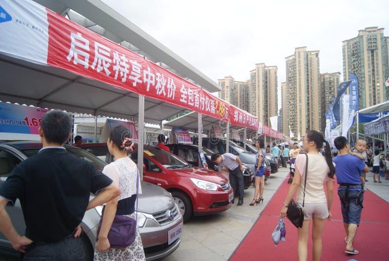 Shenzhen, China: de automobiele activiteiten van de tentoonstellingsverkoop royalty-vrije stock afbeeldingen