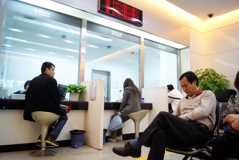Shenzhen China: in de bank voor zaken royalty-vrije stock foto
