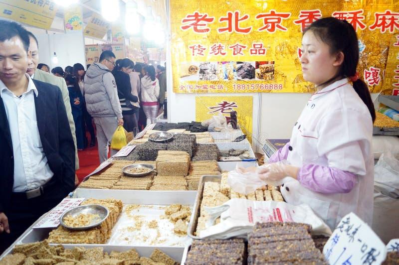 Shenzhen, China: de verkoop van suiker royalty-vrije stock afbeeldingen