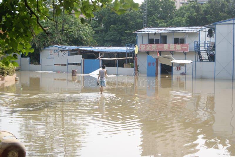 Shenzhen, China: de vloed raakte het park stock fotografie