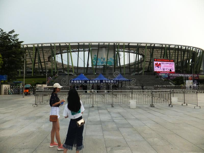 Shenzhen, China: deje la voz del amor que la estación nacional de Shenzhen del encanto de la gira de conciertos tiene una admisió foto de archivo libre de regalías