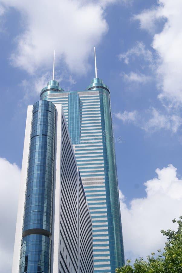 Shenzhen, China: edificio de la ciudad foto de archivo