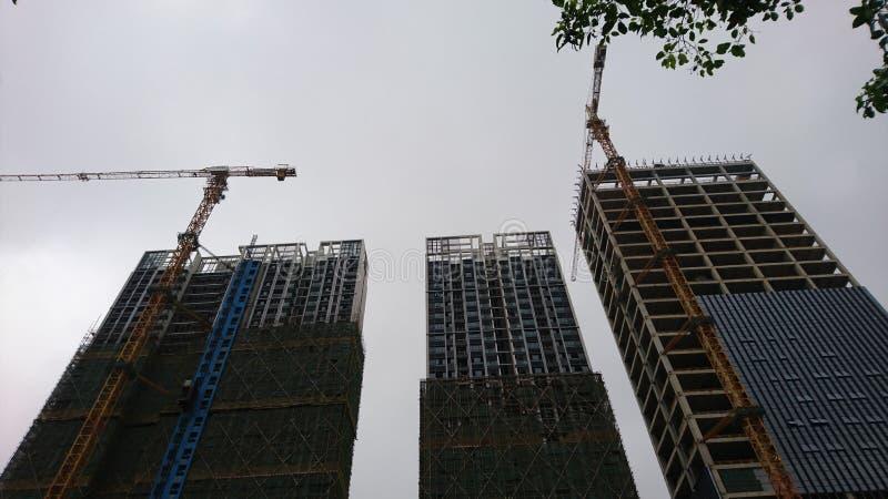 Shenzhen, China: edificios residenciales bajo nueva construcci?n fotos de archivo libres de regalías