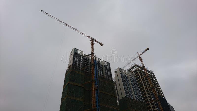 Shenzhen, China: edificios residenciales bajo nueva construcci?n foto de archivo libre de regalías