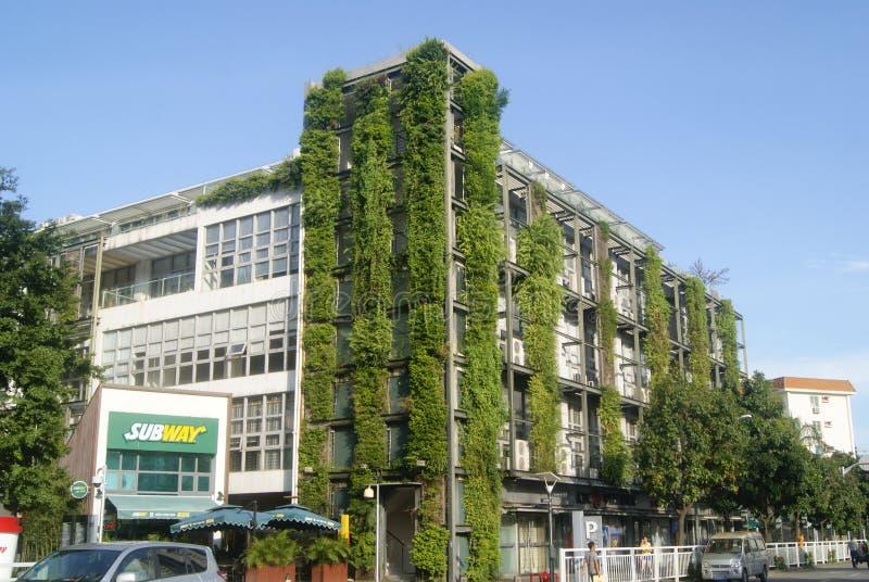 Shenzhen, China: Edificios verdes fotos de archivo