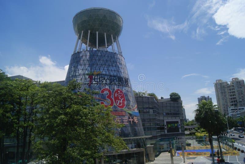 Shenzhen, China: el aspecto del edificio de plaza de compras de la ciudad de V foto de archivo