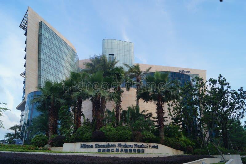 Shenzhen, China: el aspecto del edificio del hotel de cinco estrellas imagen de archivo