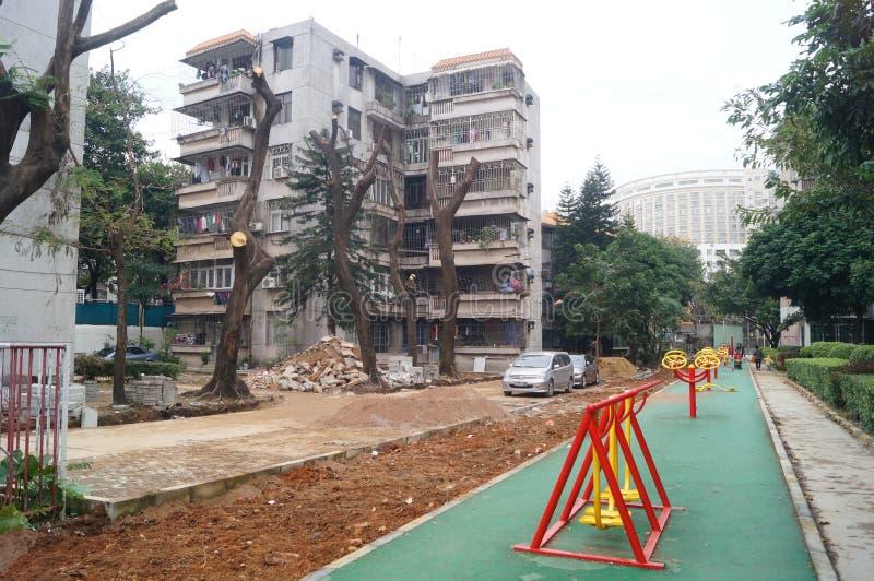Shenzhen, China: facilidade da aptidão da área residencial fotos de stock