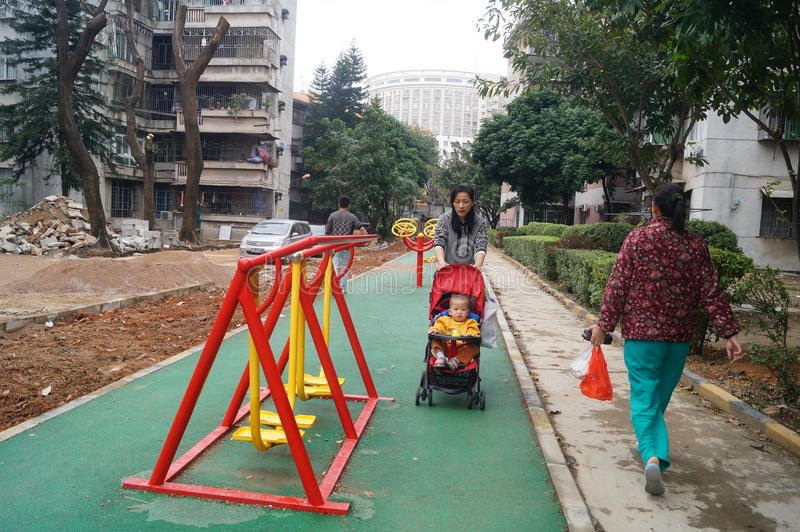 Shenzhen, China: facilidade da aptidão da área residencial fotografia de stock royalty free