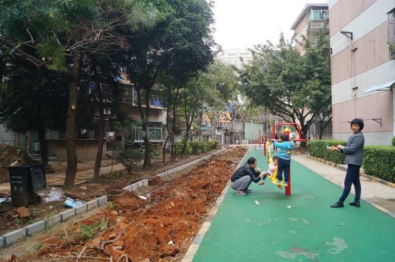 Shenzhen, China: facilidade da aptidão da área residencial imagem de stock