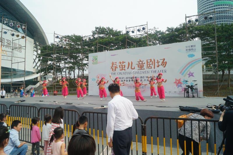 Shenzhen, China: Festival del música pop de los niños imagenes de archivo