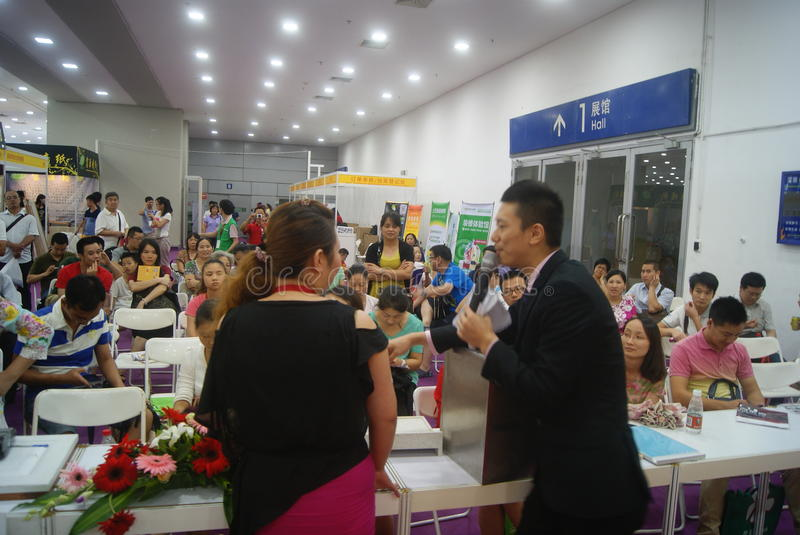 Shenzhen, China: Furniture Exhibition Forum. Shenzhen Convention and Exhibition Center, furniture exhibition forum held. A lot of people involved, answer stock photos