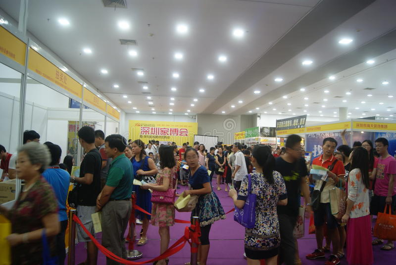 Shenzhen, China: Furniture Exhibition Forum. Shenzhen Convention and Exhibition Center, furniture exhibition forum held. A lot of people involved, answer royalty free stock photo
