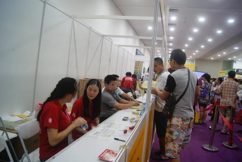 Shenzhen, China: Furniture Exhibition Forum. Shenzhen Convention and Exhibition Center, furniture exhibition forum held. A lot of people involved, answer royalty free stock image