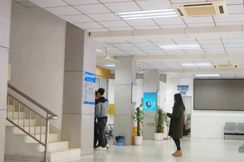 Shenzhen, China: health and epidemic prevention station room, workers are doing physical examination. Baoan Xixiang health and epidemic prevention station, to stock images