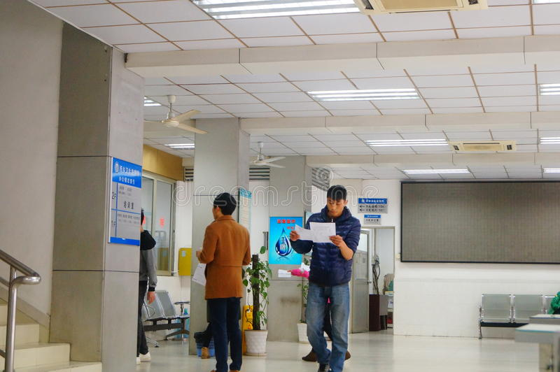 Shenzhen, China: health and epidemic prevention station room, workers are doing physical examination. Baoan Xixiang health and epidemic prevention station, to royalty free stock photography
