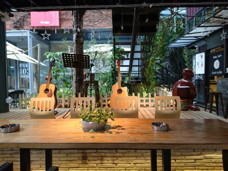 Shenzhen, China: Het Landschap van de koffiewinkel, in Cultureel Industrieterrein stock foto