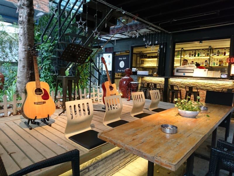 Shenzhen, China: Kaffeestube-Landschaft, im kulturellen Industriepark lizenzfreies stockfoto